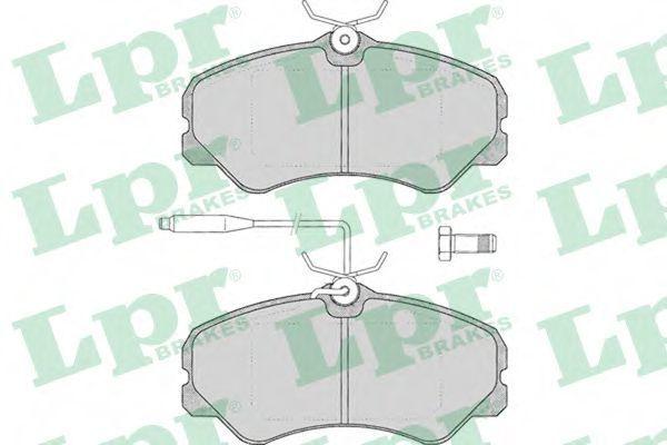 Колодки тормозные LPR 05P011