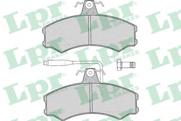 Колодки тормозные LPR 05P012