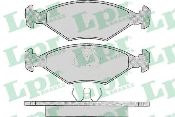 Колодки тормозные LPR 05P016