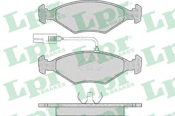 Колодки тормозные LPR 05P017