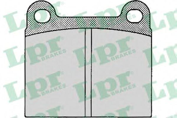 Колодки тормозные LPR 05P024