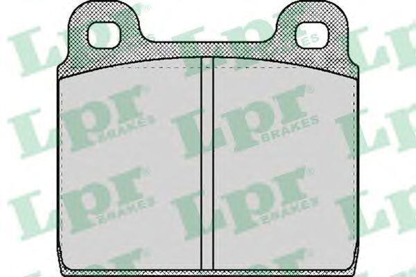Колодки тормозные дисковые LPR 05P027
