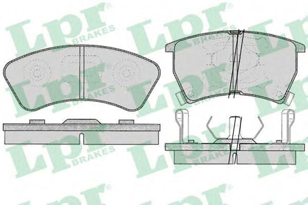 Колодки тормозные LPR 05P034