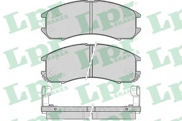 Колодки тормозные LPR 05P036