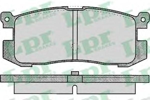 Колодки тормозные LPR 05P037