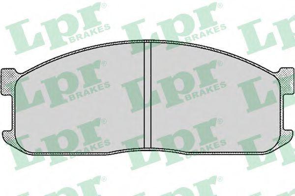 Колодки тормозные дисковые LPR 05P039