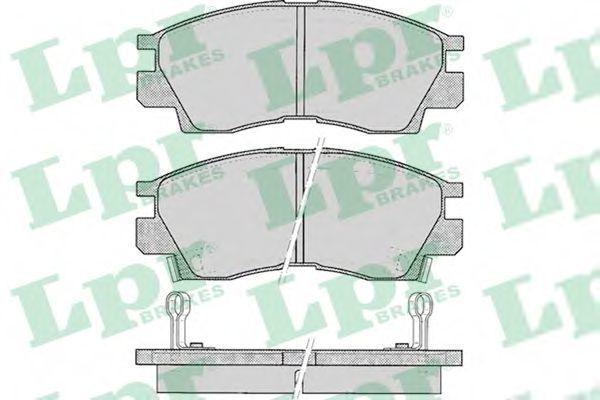 Колодки тормозные LPR 05P042