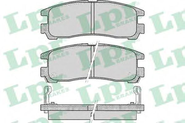 Колодки тормозные LPR 05P043