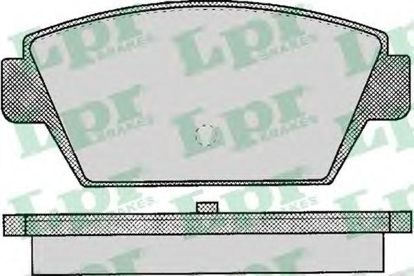 Колодки тормозные дисковые LPR 05P044