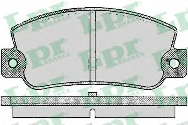 Колодки тормозные LPR 05P095