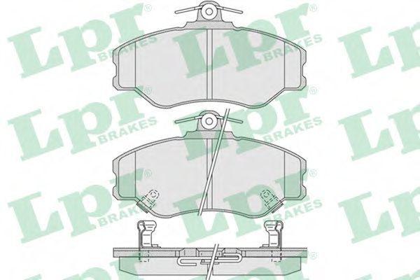 Колодки тормозные LPR 05P1009