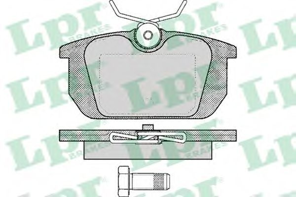 Колодки тормозные LPR 05P101