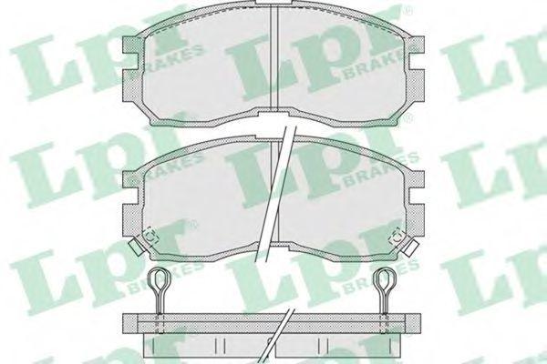 Колодки тормозные LPR 05P1012