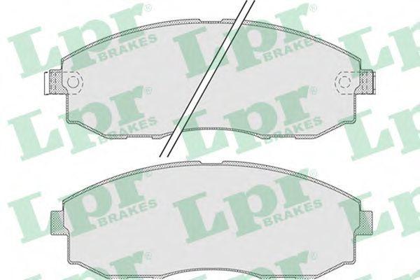 Колодки тормозные LPR 05P1015