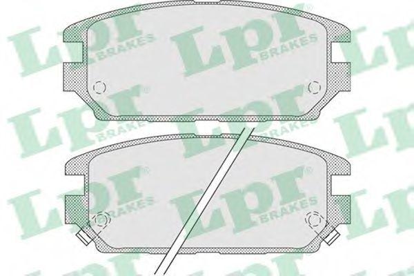 Колодки тормозные LPR 05P1016