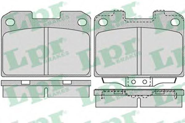 Колодки тормозные LPR 05P1022