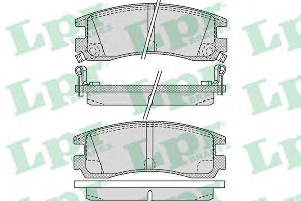 Колодки тормозные LPR 05P1031