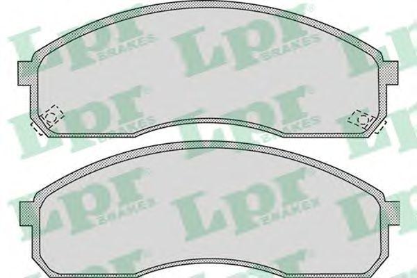 Колодки тормозные LPR 05P1072