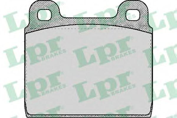 Колодки тормозные LPR 05P109