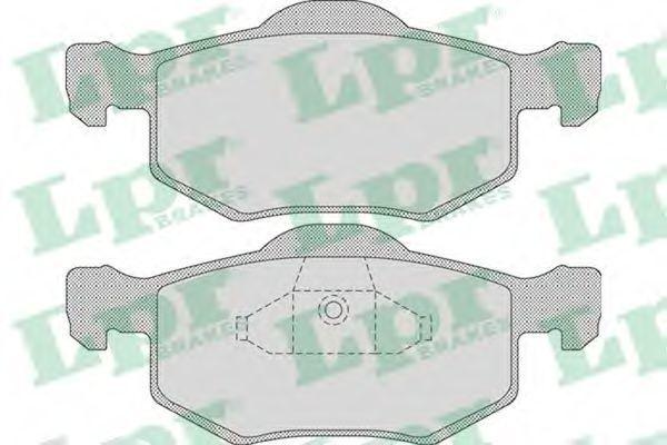 Колодки тормозные LPR 05P1091