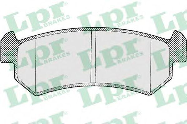 Колодки тормозные LPR 05P1199
