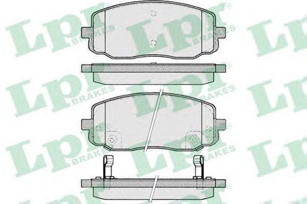 Колодки тормозные LPR 05P1220