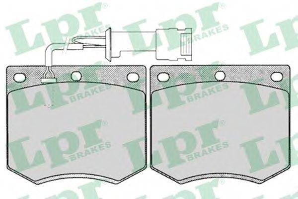 Колодки тормозные LPR 05P125