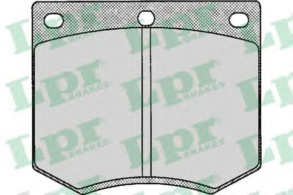 Колодки тормозные дисковые LPR 05P126