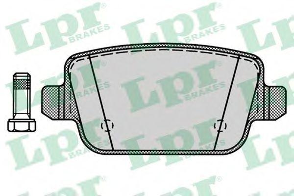Колодки тормозные LPR 05P1272