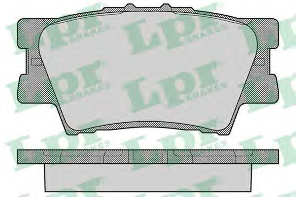 Колодки тормозные LPR 05P1281