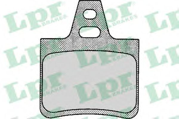 Колодки тормозные LPR 05P133