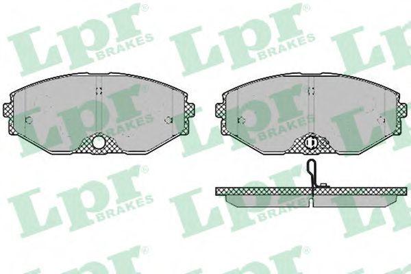 Колодки тормозные LPR 05P1357