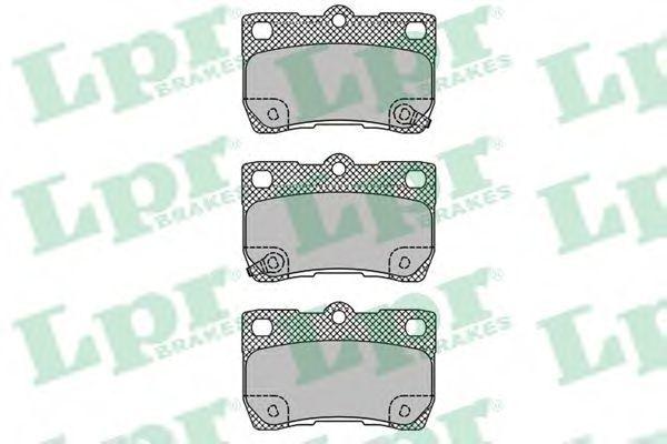 Колодки тормозные LPR 05P1407
