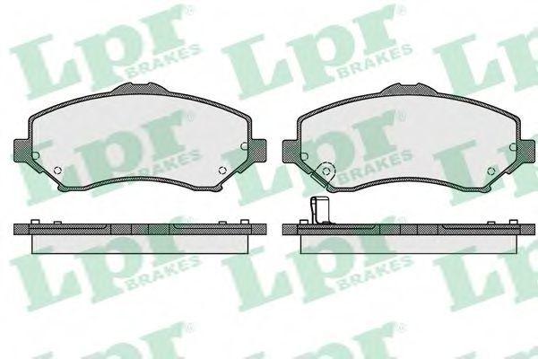 Колодки тормозные LPR 05P1548