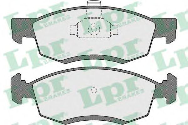 Купить Колодки тормозные LPR 05P1654