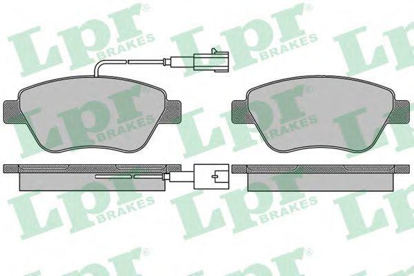 Колодки тормозные LPR 05P1656