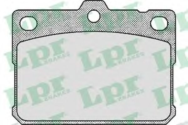 Колодки тормозные LPR 05P169