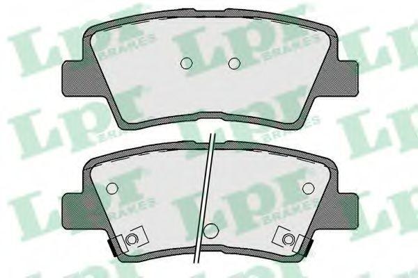 Колодки тормозные LPR 05P1710