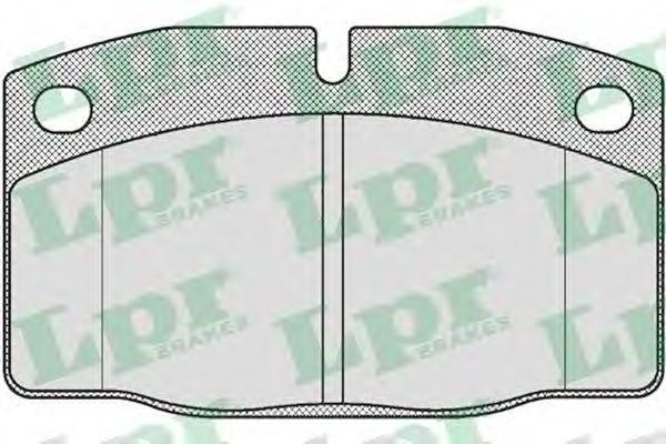 Колодки тормозные LPR 05P190