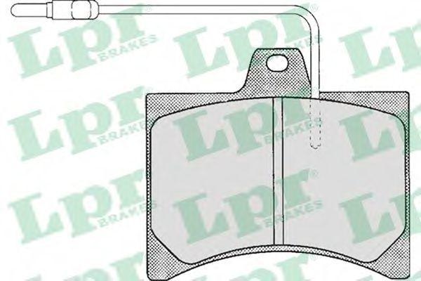 Колодки тормозные LPR 05P195
