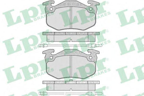 Колодки тормозные дисковые LPR 05P201