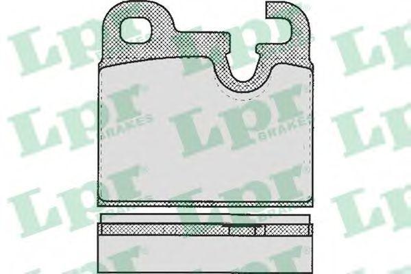 Колодки тормозные LPR 05P203