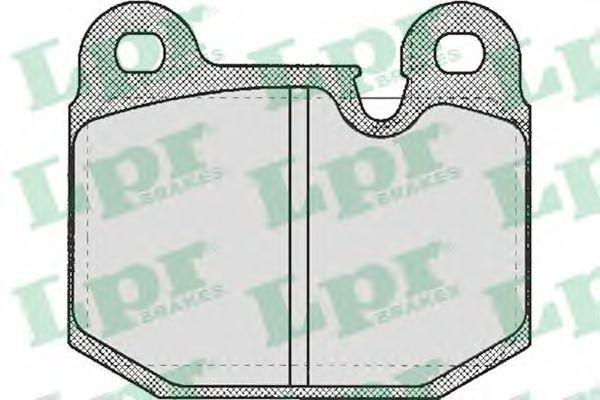 Колодки тормозные LPR 05P210