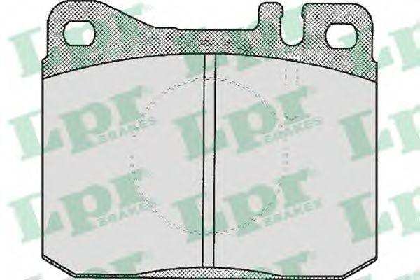 Колодки тормозные LPR 05P211