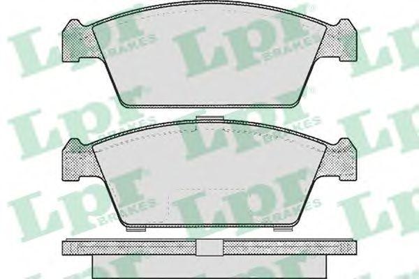 Колодки тормозные LPR 05P213