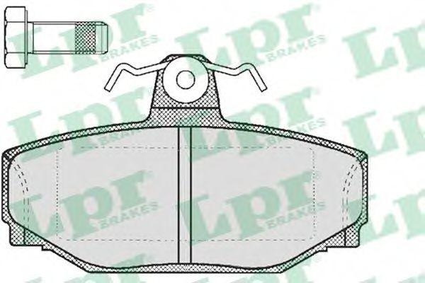 Колодки тормозные LPR 05P217