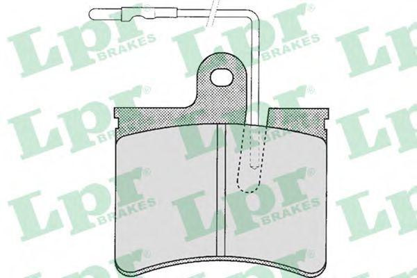 Колодки тормозные LPR 05P241
