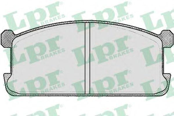Колодки тормозные дисковые LPR 05P254