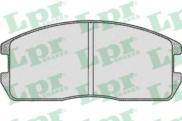 Колодки тормозные LPR 05P265