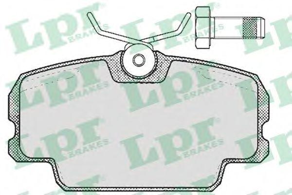 Колодки тормозные LPR 05P273
